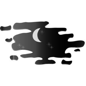 Nachthimmel in Pfütze