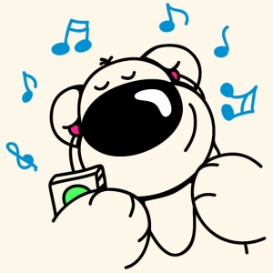 Der Bär hört Musik
