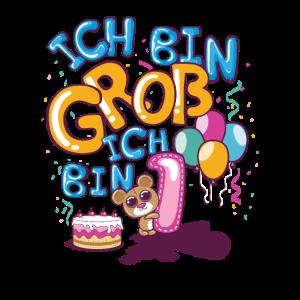 Kinder 1. Geburtstag Bär Mädchen