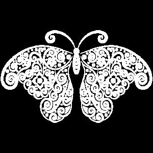 Schmetterling Ornament weiss