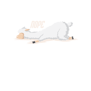 Lama schläft