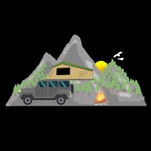 Dachzelt Natur Outdoor Geschenk Camper Camping