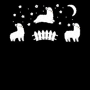 Alpaka Traum springende Schafe zählen