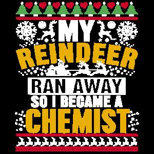 Chemiker hässliches Weihnachtsdesign