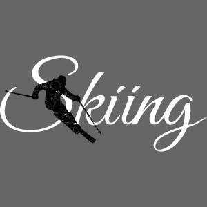 Skiing Skifahrer (Weiß) Wintersport Apres-Ski