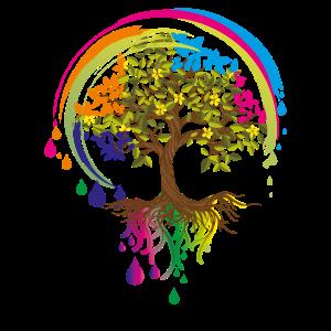 bunter Baum