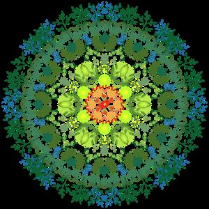 Floral watercolor mandala