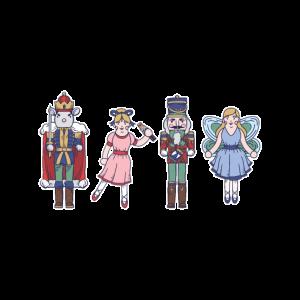 Märchen Figuren Handzeichnung
