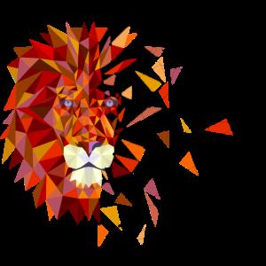 Geometric Lion - Animals, Wildlife, Nature, Design