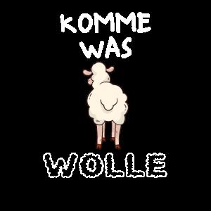 Komme Was Wolle lustig Schaf Landwirt Bauer Hirte