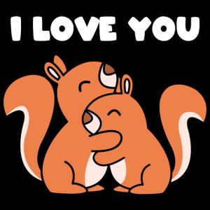 I love you Eichhörnchen Paar