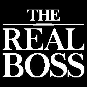 The Real Boss Vater Vatertag Geschenk