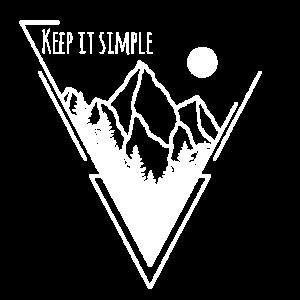 Keep it simple berg wanderer einfach Geschenk
