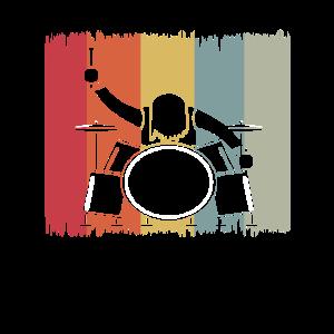 Schlagzeug Schlagzeuger Retro Shirt