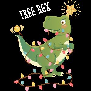 Tree T Rex Dinosaurier Weihnachtsbaum