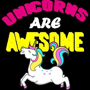 Einhörner sind super Regenbogen Unicorn Pferd Bunt
