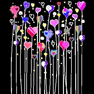 Herzen auf Stiel