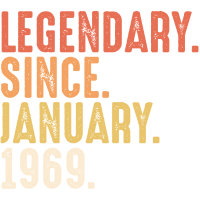 Legendary Since January 1969 - 50. Geburtstag Bday