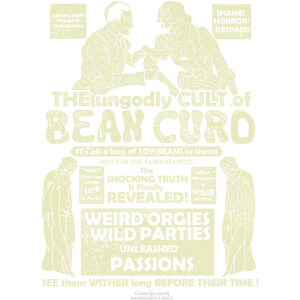 Veggie T Shirt Design Bean Curd Film Poster Spoof
