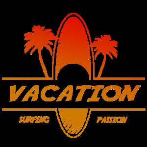 Urlaub - Surfen und Palmen