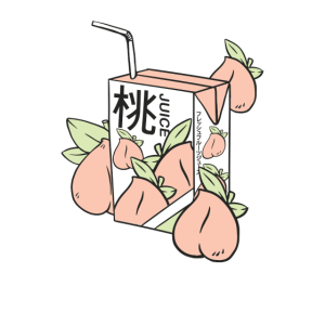 Aesthetic Japanese Peach Juice - Anime