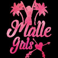 malle girls herz palmen pink