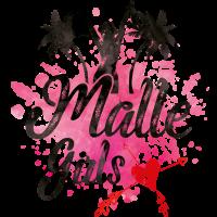 malle girls herz palmen pink splat