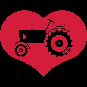 Trecker Im Herzen / I Love Tractors (Herz)