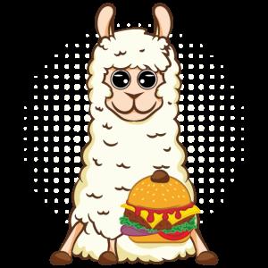 Llama With Hamburger