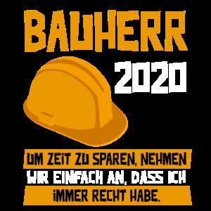 Bauherr 2020 Richtfest Hausbau Rohbau Geschenk
