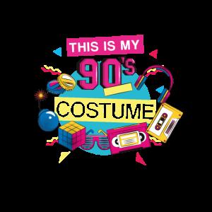 90er Kostüm 90er Jahre Motto Party