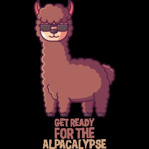 Alpacalypse Geschenk, alpaca apocalypse tier