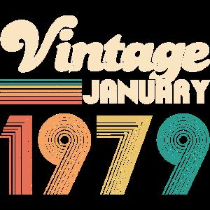 Vintage 1979 40. Geburtstag Geschenk Retro Bday
