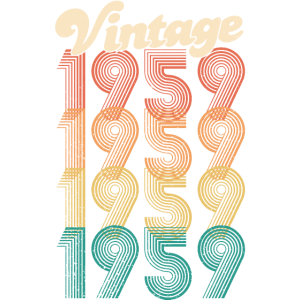 Vintage 1959 60. Geburtstag Geschenk Jahrgang '59