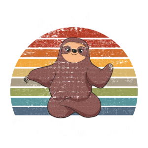 chill out yoga Faultier retro vintage