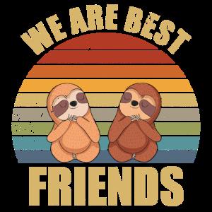 Sloth friends we are best friends beste Freunde