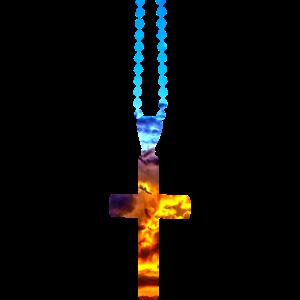 christlich Christentum Glaube Kreuz mit Himmel