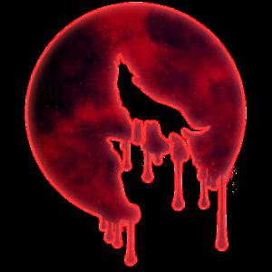 Heulender Wolf Vollmond Wölfe Blutmond Mond Nacht