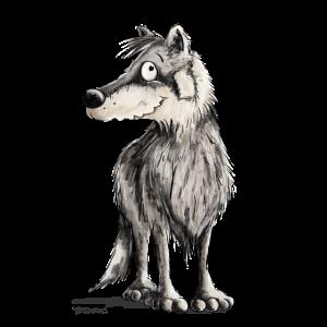 Lustiger Wolf I Comic Hund I Wölfe