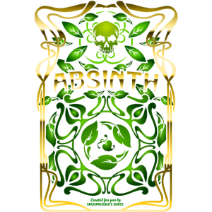 Absinth Art Nouveau T Shirt Design