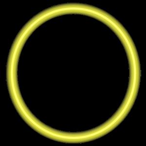 Kreis - Ring - Form - Rund - Neon Gold