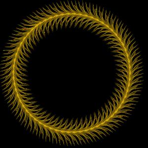 Kreis - Ring - Form - Rund - Federring Schwarz