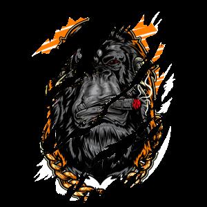 Smoking Gorilla - Rauchender Gorilla