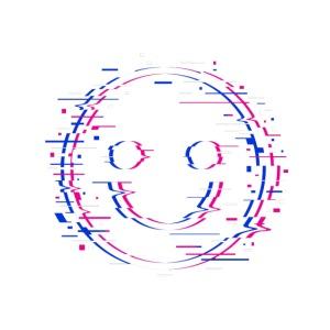 Glitchy smile