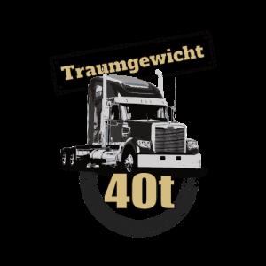 Traumgewicht 40t Lkw Trucker