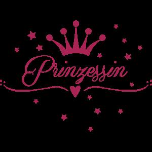 Prinzessin, Krone, Sterne, Pink, Glitzer, Gold