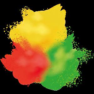 Farbe Klecks Spritzer Maler Geschenk bunt farbig