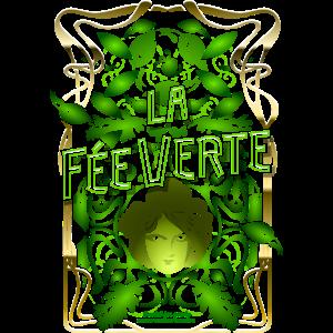 Absinth T Shirt Design La Fée Verte Art Nouveau
