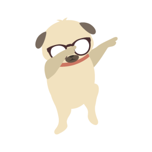 dabbing hund