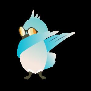 Dabbing vogel